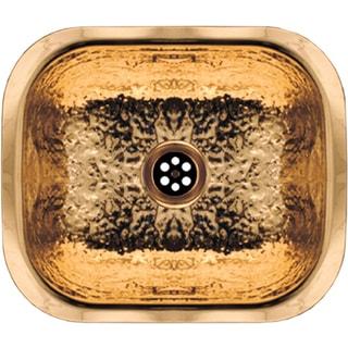 ALFI brand Rectangular Undermount Entertainment Prep Sink With a Hammered Texture Surface