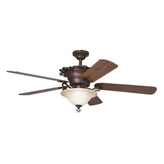 Kichler Lighting Wilton Collection 54-inch Carre Bronze Ceiling Fan w/Light
