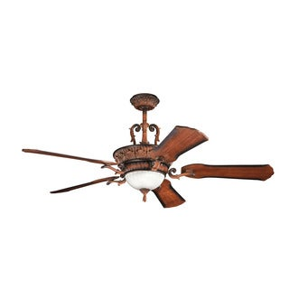 Kichler Lighting Kimberley Collection 60-inch Mediterranean Walnut Ceiling Fan w/Light