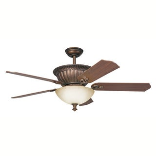 Kichler Lighting Larissa Collection 52-inch Tannery Bronze Ceiling Fan w/Light