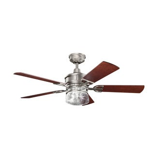 Kichler Lighting Lyndon Collection 52-inch Antique Pewter Ceiling Fan w/Light
