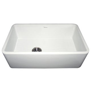 Duet Fireclay Reversible Sink with Smooth Front Apron - White