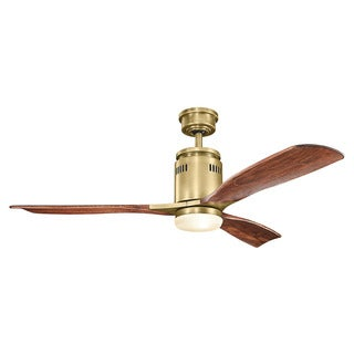 Kichler Lighting Ridley Collection 52-inch Natural Brass Ceiling Fan w/Light