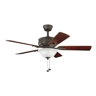 Kichler Lighting Athens Collection 52-inch Satin Natural Bronze Ceiling Fan w/Light