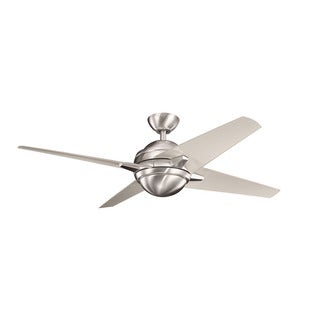 Kichler Lighting Sunburst Collection 52-inch Brushed Stainless Steel Ceiling Fan w/LED Light