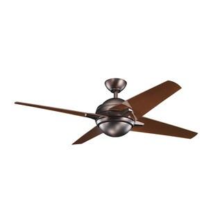 Kichler Lighting Sunburst Collection 52-inch Oil Brushed Bronze Ceiling Fan w/LED Light