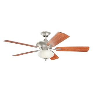 Kichler Lighting Orrin Collection 52-inch Brushed Nickel Ceiling Fan w/Light