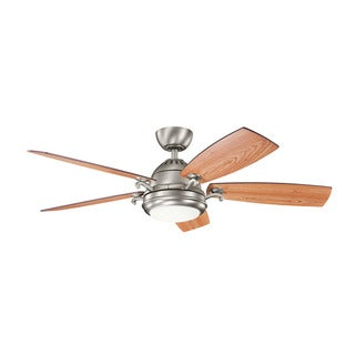Kichler Lighting Clayton Collection 52-inch Antique Pewter Ceiling Fan w/ LED Light