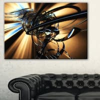 Fractal 3D Dark Brown Tangle - Abstract  Art Canvas Print