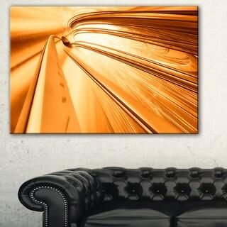 Fractal 3D Brown Stripes - Abstract  Art Canvas Print