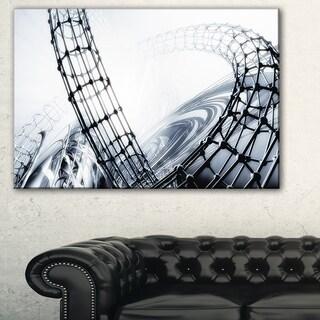 Fractal 3D Black White Design - Abstract  Art Canvas Print