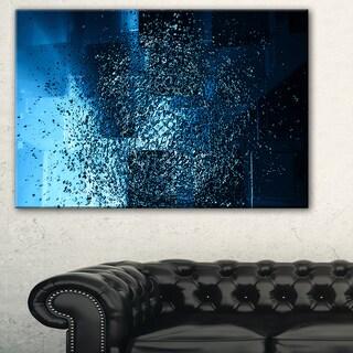 Fractal 3D Blue Paint Splash - Abstract Art Canvas Print