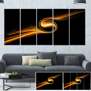 Fractal 3D Dancing Yellow Design - Abstract  Art Canvas Print