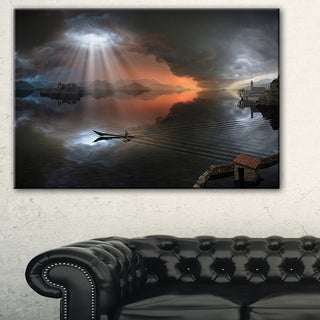 High Water Photo Collage - Seascape Art Canvas Print