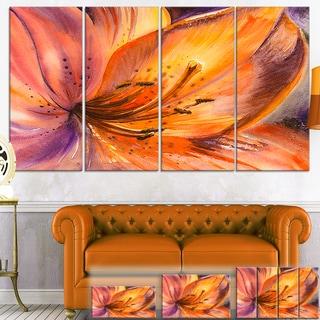 Orange Lily Flower -  Art Floral Canvas Print