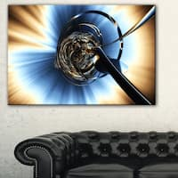 Fractal 3D Tangled Knot - Abstract  Art Canvas Print
