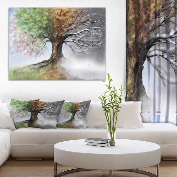 Design art tree with four seasons