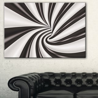 Fractal 3D Black N White Tunnel - Abstract  Art Canvas Print