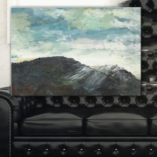 Mountain Peak Under Cloudy Sky - Landscape Painting Canvas Print