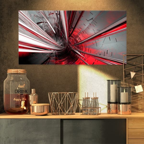 Shop Fractal 3d Deep Into Middle Abstract Art Canvas Print