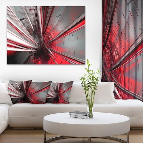 Fractal 3D Deep into Middle - Abstract Art Canvas Print