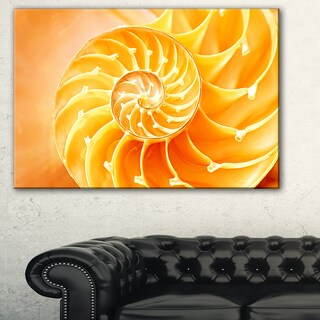 Yellow Nautilus Shell - Abstract  Art Canvas Art Print