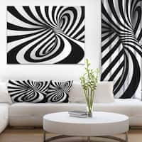 Spiral Black n' White - Abstract  Art Canvas Print