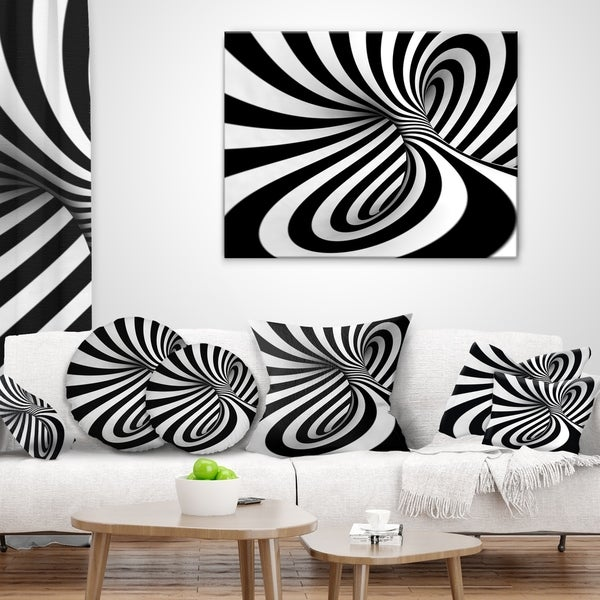 BLACK /& WHITE SWIRL ABSTRACT MODERN WALL ART CANVAS PRINT PICTURE READY TO HANG