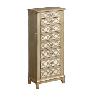 Cadia Metallic Gold Jewelry Armoire