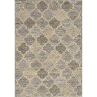 Corbel Taupe/ Beige Ogee Rug (5'3 x 7'7)