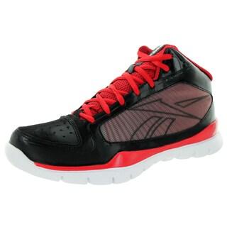 Reebok Kids Sublite Pro Rise Black/Rbk Red/White Basketball Shoe