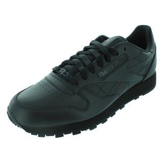 Reebok Classic Leather Running Shoes Black