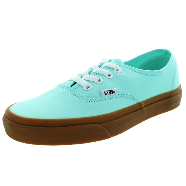 bf7bdb9b1ed Shop Vans Unisex Authentic Brushed Twill Blue Tint Gum Skate Shoe ...