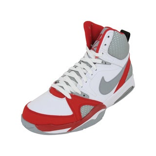 Nike Air Ultra Force 2013 Basketball Shoes White/Wolf Grey/University Red/Black
