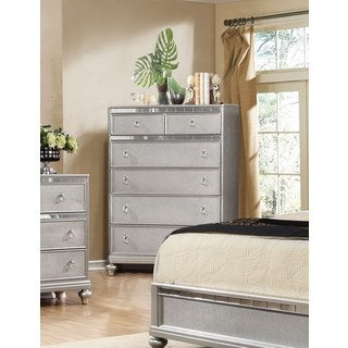 LYKE Home Nevaeh Silver Chest