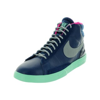 Nike Men's Lunar Blazer Brave Blue/Slvr/G Glw/Pink Fl Casual Shoe