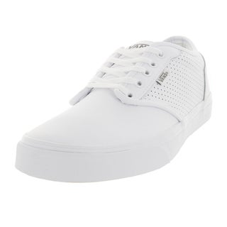 Vans Men's Atwood Perf Leather White/White Skate Shoe