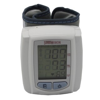 Santa Medical Pro Series Large Display Digital Wrist Blood Pressure Monitor with Case