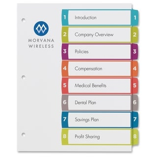 Avery Ready Index Table of Contents Dividers - Multi (1/Set)