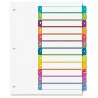 Avery Ready Index Table of Contents Dividers - Multi (12/Set)