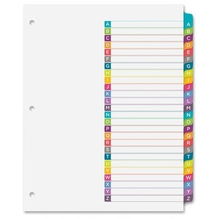 Avery Ready Index A-Z Tab Dividers - Multi (26/Set)
