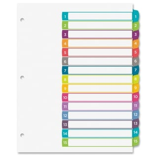 Avery Ready Index Table of Contents Dividers - Multi (15/Set)