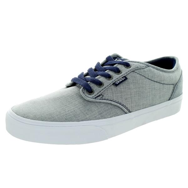 Shop Vans Men s Atwood Textile Patriot Blue White Skate Shoe - Free ... f672576e5