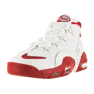 Nike Men's Air Max Sensation Summit White/University Red Basketball Shoe
