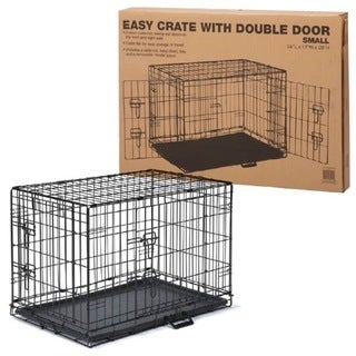 ProSelect Black Easy Kennel and Crate With Double Door