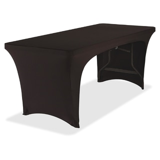 Iceberg Stretch-fabric Black Polyester/ Spandex 30 x 72-inch Table Cover