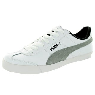 Puma Men's Roma Lp Low Lodge White/Limestone Grey/Black Casual Shoe