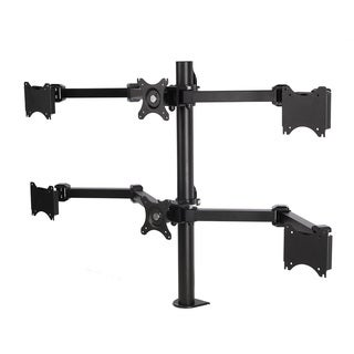 Fleximounts D1S Full Motion 6-arm Desk Mount Black Stand for 10-inch to 24-inch LCD Computer Monitor