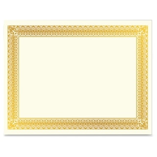 Geographics Gold Foil Certificate - Gold (15/Pack)