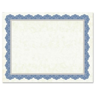 Geographics Drama Blue Border Blank Certificates - Blue (15/Pack)